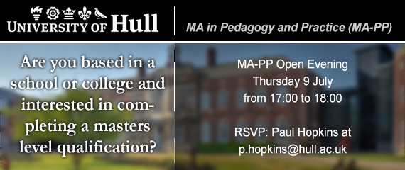 Hull University MA-PP Open Evening