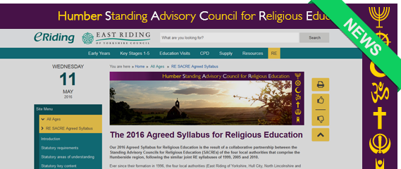RE Sacre Agreed Syllabus